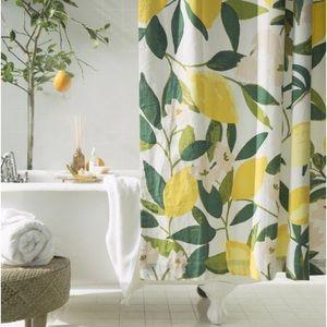 NWT lemon shower curtain